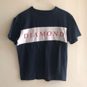 Diamond Supply Co. color block spellout t shirt